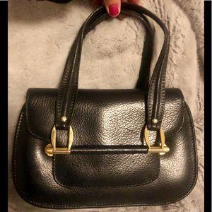 Vintage navy leather Henri Bendel purse